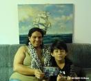 """Quando deixou a Colômbia, em 2011, Angélica saiu com a família e trouxe um quadro que havia ganhado de um parente. """"Esta pintura tem um valor sentimental, me faz lembrar dos bons tempos em que minha família estava junta, na Colômbia"""". Antes de chegar ao Brasil, Angélica e os filhos enfrentaram um processo de deslocamento interno, e o quadro esteve com eles todo o tempo."""