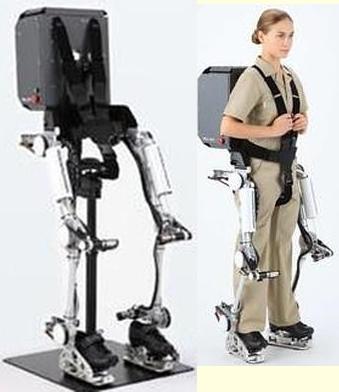 Um exoesqueleto foi criado pela Panasonic com o fim de auxiliar a sustentação e transporte de objetos pesados