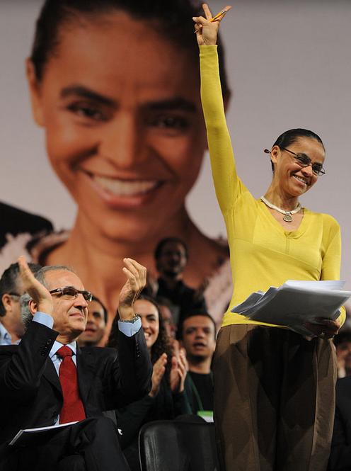 Marina em campanha em 2010