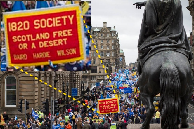 UK - Edinburgh - Scottish Independence Rally