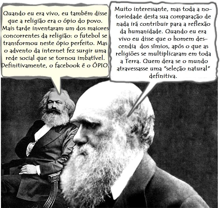 Karl Darwin e Charles Marx facebook