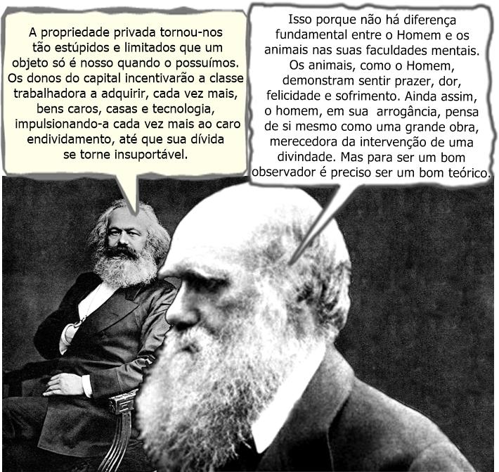 Karl Darwin e Charles Marx