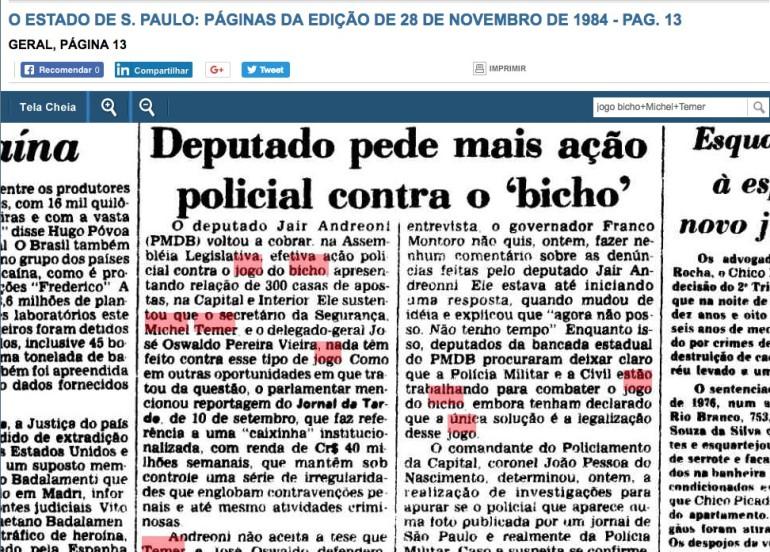 temer 28 novembro 1984